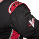 Velocity Race Gear - Velocity 1 Sport Suit - Black/Red - XX-Large - Image 4