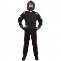 Velocity Race Gear - Velocity 1 Sport Suit - Black/Red - XXX-Large - Image 2