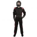 Velocity Race Gear - Velocity 1 Sport Suit - Black/Red - XXX-Large - Image 3