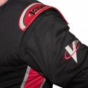 Velocity Race Gear - Velocity 1 Sport Suit - Black/Red - XXX-Large - Image 4