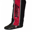 Velocity Race Gear - Velocity 1 Sport Suit - Black/Red - XXX-Large - Image 5