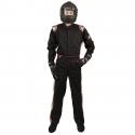 Velocity Race Gear - Velocity 1 Sport Suit - Black/Silver - Large - Image 3