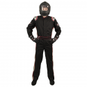 Velocity Race Gear - Velocity 1 Sport Suit - Black/Silver - Medium/Large - Image 2