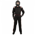 Velocity Race Gear - Velocity 1 Sport Suit - Black/Silver - Medium/Large - Image 3
