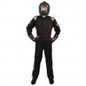 Velocity Race Gear - Velocity 1 Sport Suit - Black/Silver - XX-Large - Image 2
